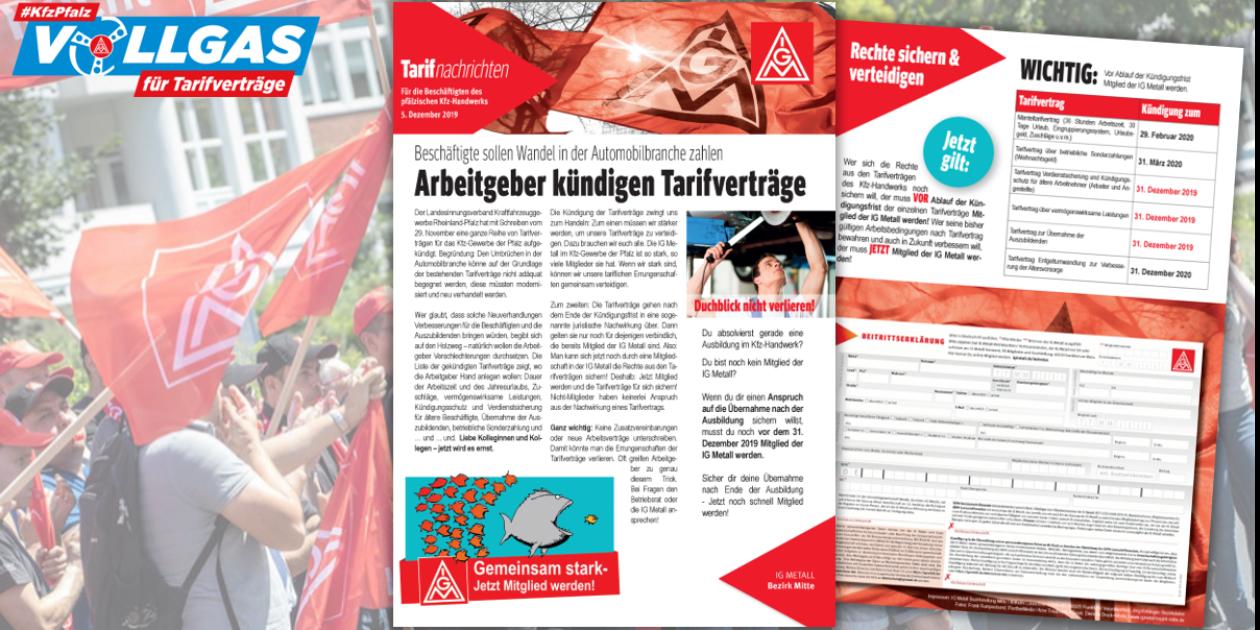 Kfz-Branche Pfalz: Arbeitgeber kündigen Tarifverträge - Jetzt Ansprüche sichern!