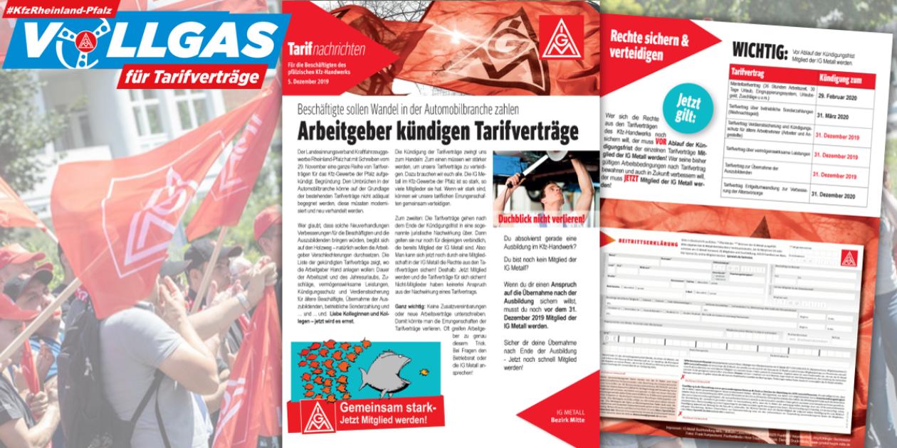 Tarifflucht im Kfz-Gewerbe in Rheinland-Pfalz - Jetzt Ansprüche sichern